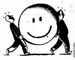 imagen cooperar y emoji cara sonriente