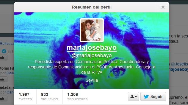 Twitter de María José Bayo