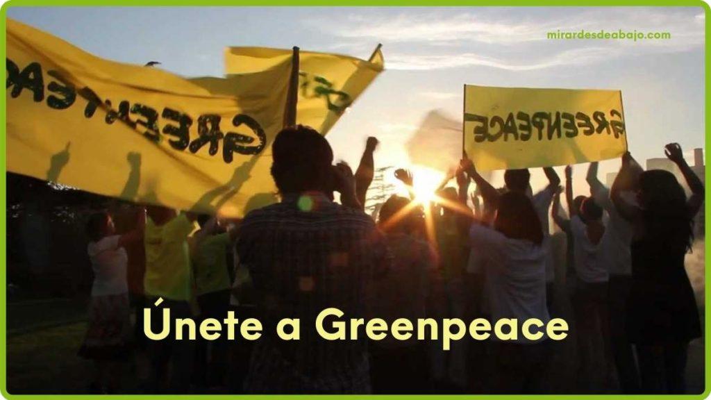 Imagen únete a Greenpeace