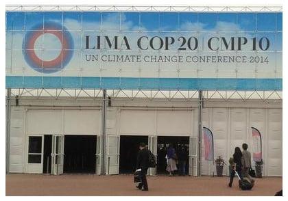 Entrada a COP20 en Lima contra el cambio climático
