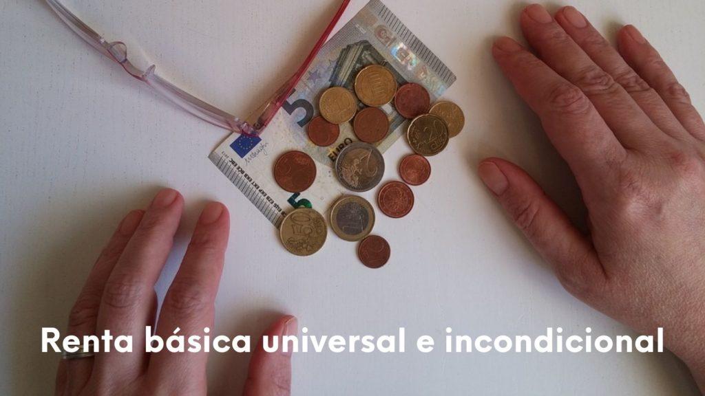 Imagen de dinero y renta básica universal