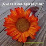 Imagen pregunta ¿qué es la ecología política? Un nuevo paradigma para el siglo XXI