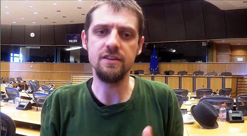 Florent Marcellesi en el Parlamento Europeo.