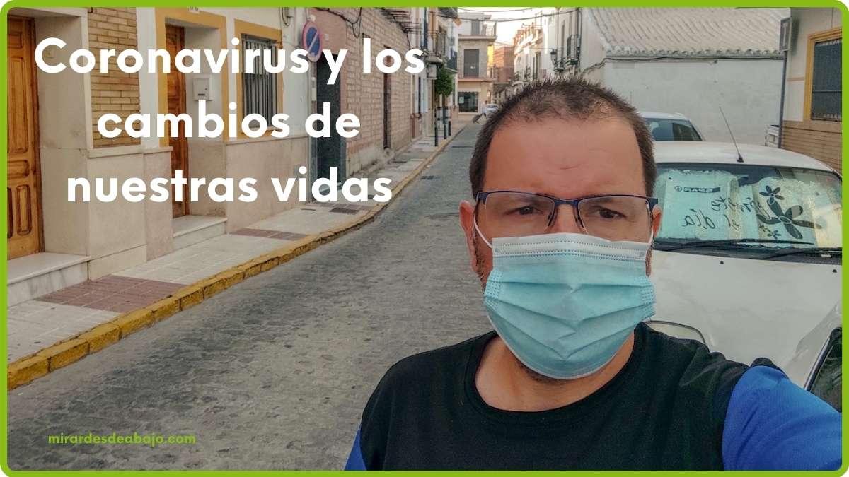 Con mascarilla por el coronavirus covid19