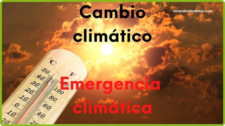 Imagen cambio climático vs emergencia climática