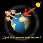 imagen gráfica sobre el efecto invernadero