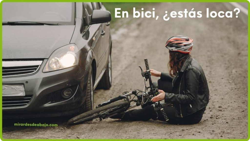 Imagen ciclista caída por atropello coche