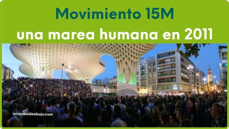 Imagen de marea humana por el movimiento 15M en Sevilla