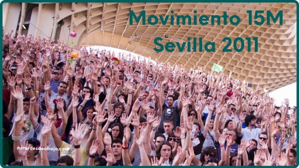 """Imagen con foto en """"las setas"""" de Sevilla por el 15M"""