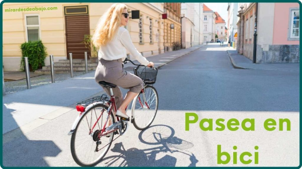 Imagen pasea en bici