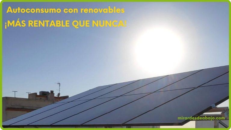 Imagen placas solares con el Sol de fondo