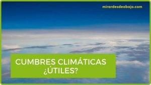 Imagen sobre si las cumbres del clima son útiles o no